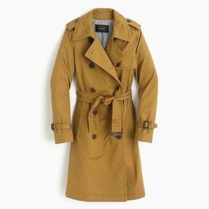 J. Crew City Trench Coat Nut Brown Size 2